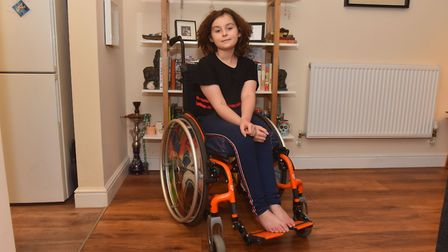 Jasmi Cooke - 10 years old and has survived leukaemia but now has bone disease which means she can't
