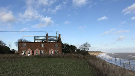 The home, known as the Easternmost House, is currently being demolished. Picture: JULIET BLAXLAND