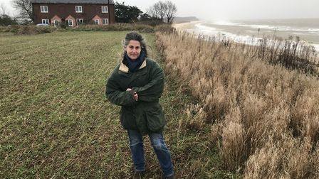 Juliet Blaxland was forced to move out fo her home at Easton Bavents near Southwold, to allow for it