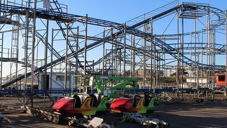 The old rollercoaster is being sold to a ride operator in South America Picture: NIGEL BROWN