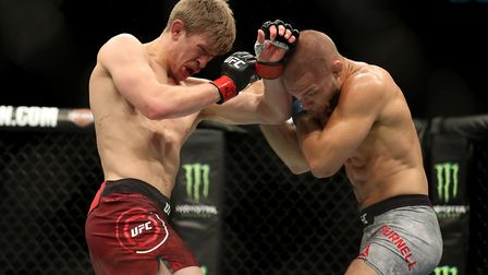Arnold Allen (left) has yet to lose in the UFC. Picture: PA SPORT