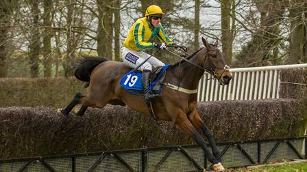 Thetalkinghorse and Tom McClorey in winning action at Horseheath last February. Picture: GRAHAM BISH