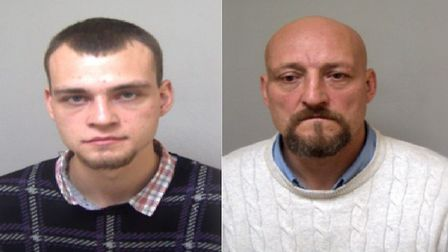 Erick Issak, 26, and his father Serjeg, 49, have been jailed Picture: HOME OFFICE/ UK BORDER FORCE