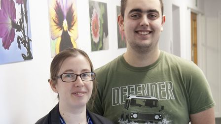 Mildenhall College Academy assistant principal Katie Sanders-Pope with student Tom Canham Picture: