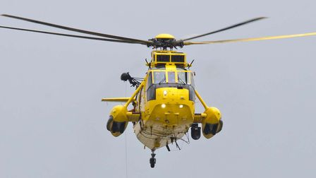 A helicopter was out scouring the coastline overnight (stock image) Picture: PAUL DAMEN