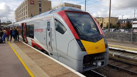 The new track will run from Cambridge station, pictured, to Bedford. Picture: PAUL GEATER