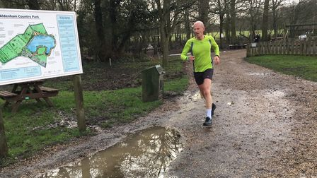 A runner approaches the finish to last weekend's Aldenham parkrun. Picture: CARL MARSTON