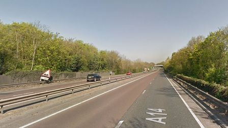 Traffic is queuing for miles after a collision on the Sugar Beet Roundabout on the A14 at Bury St Ed