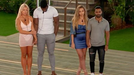 Jess and Ched were saved by the public, while Naz and Eva were voted off of Love Island.Picture: I