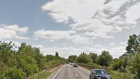 The Waveney Bridge is partially closed as repairs are carried out. Picture: GOOGLE