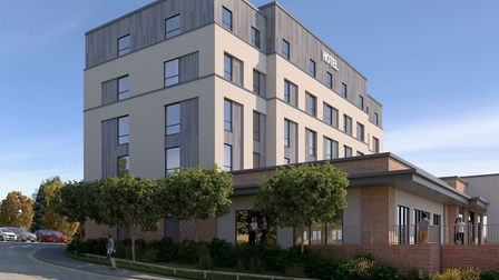 The proposed hotel and restaurant in Sudbury. Picture: BABERGH DISTRICT COUNCIL