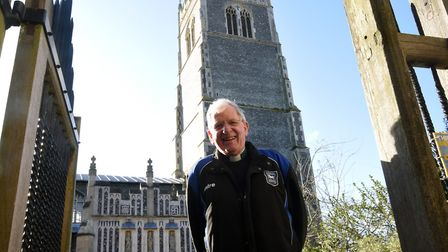Reverend Canon Kevan McCormack, Rector at St Mary's Parish Church in Woodbridge is retiring Picture