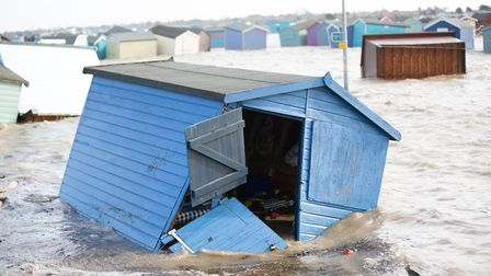 Brightlingsea was devastated by the tidal surges yesterday after Storm Ciara. Picture: SIMON RICH