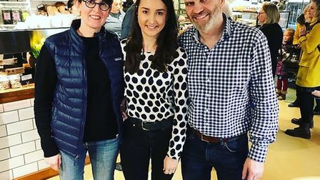 Rebecca Bishop, Yasmin Wyatt and Steve Magnall at Two Magpies bakery in Norwich Picture: TWO MAGPIE