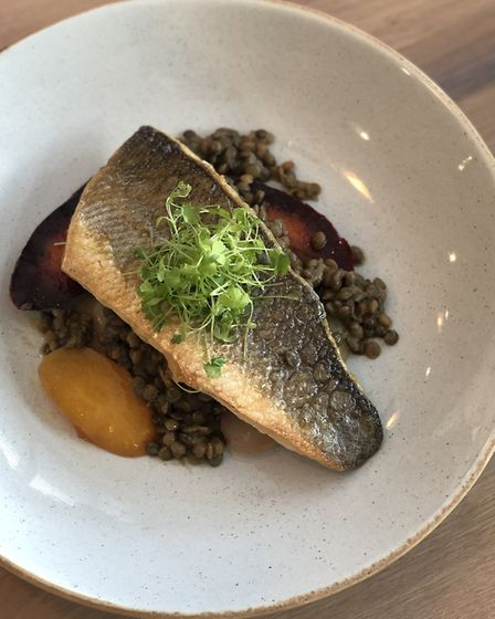 Seabass at Lucy's Restaurant, Fornham All Saints Picture: Lucy's Restaurant