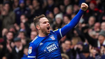Alan Judge was a focal point of the Ipswich Town side which beat Accrington on Saturday. Picture: S