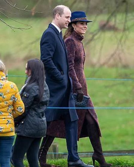 The Duke and Duchess of Cambridge at Sandringham, with the duchess wearing a Suffolk fedora Picture