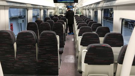 Inside the Bombardier Aventra train at the Derby factory. Picture: PAUL GEATER