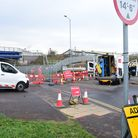 The roadworks in Sproughton Road have led to Sproughton village having its bus route suspended Pict