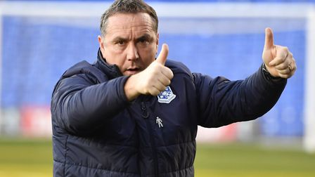 Tranmere Rovers manager Micky Mellon. Photo: PA