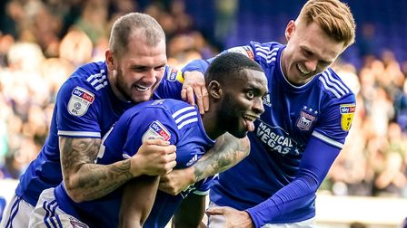 Kane Vincent-Young scored when Ipswich beat Tranmere 4-1 at Portman Road earlier this season. Photo: