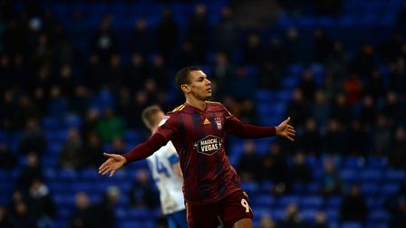 Kayden Jackson celebrates scoring the winner at Tranmere Rovers Picture Pagepix