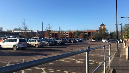The Arc surface car park, which is managed by West Suffolk Council. The Parkway multi-storey car par