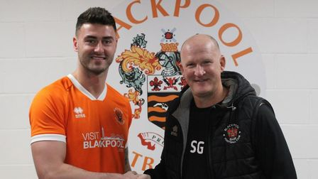 Blackpool have signed Gary Madine from Cardiff City. Picture: BLACKPOOLFC