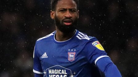 Janoi Donacien pictured during Town's goaless draw with Gillingham at Portman Road on Boxing Day Pho