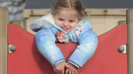 Scarlett having fun at playtime Picture: SARAH LUCY BROWN