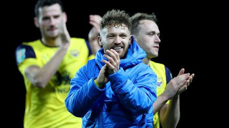 Bristol City loanee Matty Taylor leads the line for Oxford United. Photo: PA