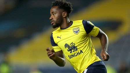 Tarique Fosu is Oxford United's topscorer with nine goals. Photo: PA