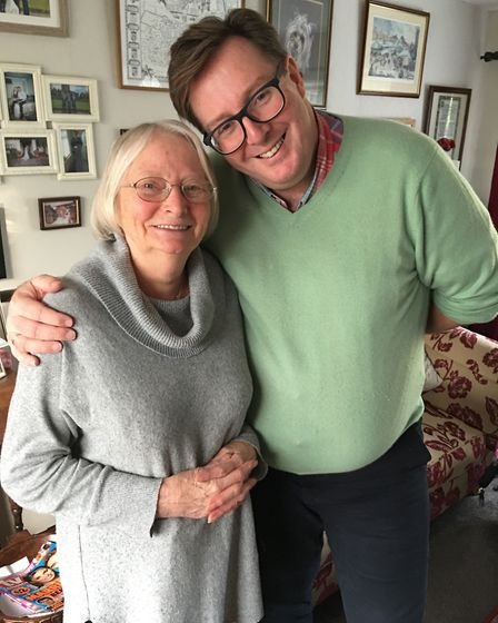 Tim Holder and Christine, who receives help thanks to the Surviving Winter Appeal Picture: SUFFOLK