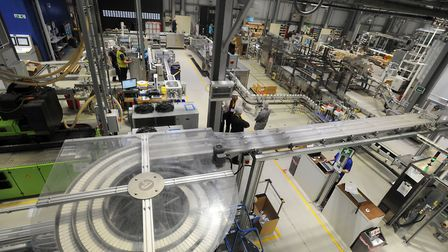 The factory floor at the baby bottling plant Picture: PHIL MORLEY