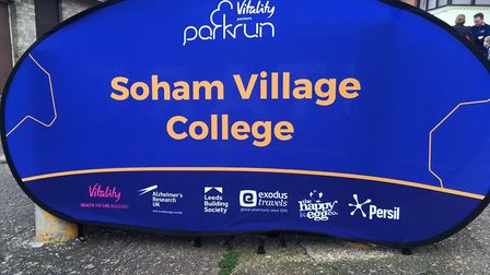 A good sign: the weekly Soham Village College parkrun