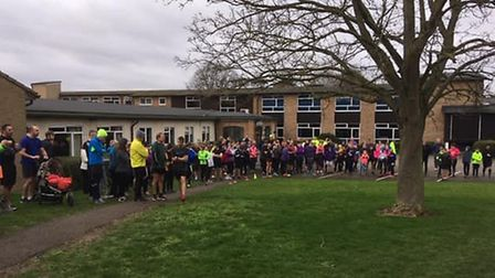 Runners and walkers assemble for the Soham Village College parkrun last Saturday. Picture: SOHAM VIL