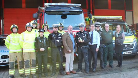 Present at the campaign launch last month were: Sgt Paul Jackson and other officers from Bury St Edm