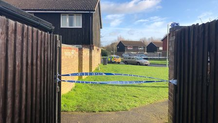 A police cordon at the scene in Brickfields Avenue Newmarket Picture: ARCHANT