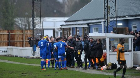 Bury Town FC v Cheshunt FC. Picture: SARAH LUCY BROWN