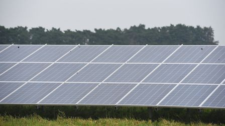 Schemes such as the Toggam Farm solar panel site in Lakenheath have helped West Suffolk Council in i