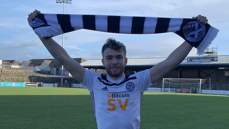 Aaron Drinan has joined Ayr United on loan until the end of the season - and impressed in his first