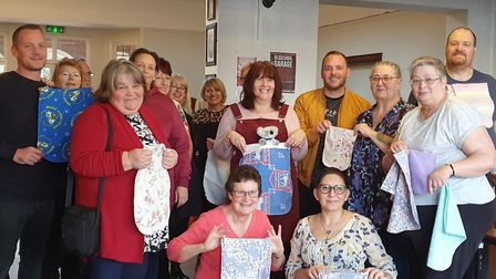Everyone that joined in with the sewing bee at The Golden Hind pub to help wildlife affected by the