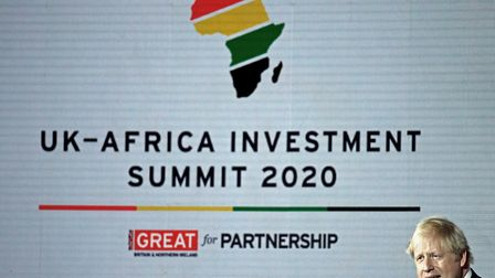 Prime minister Boris Johnson during the UK-Africa Investment Summit at the Intercontinental Hotel Lo