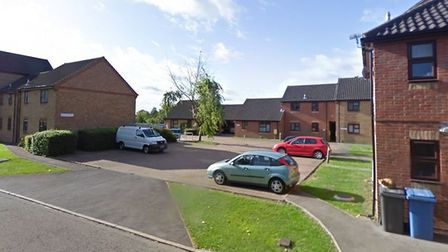 The attack took place at an address in Hardy Court, Sudbury Picture: GOOGLE