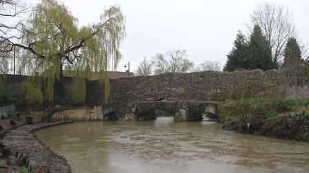 An unknown substance has been found polluting the River Lark in Bury St Edmunds (FILE PHOTO) Pictur