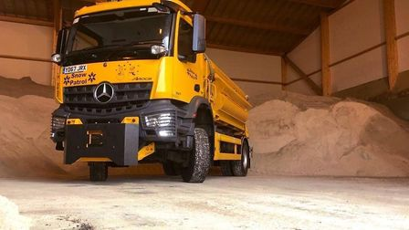 Suffolk Highways' gritter fleet is ready to tackle ice on the county's roads Picture: SUFFOLK HIGHWA