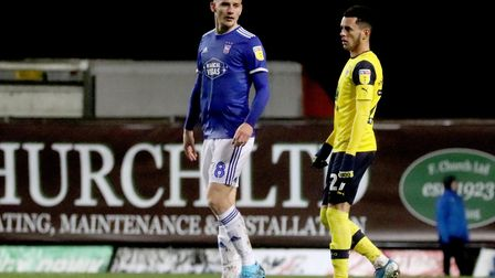 Luke Woolfenden pictured during Town's 0-0 draw with Oxford United at The Kassam Stadium Photo: ROSS