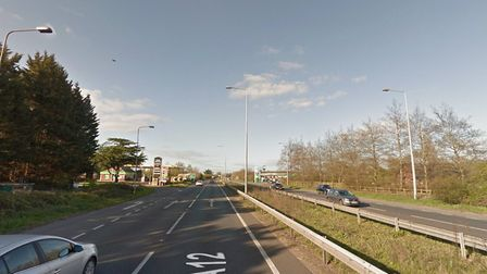 Multi-vehicle collision on A12 at Capel St Mary. Picture: GOOGLE MAPS