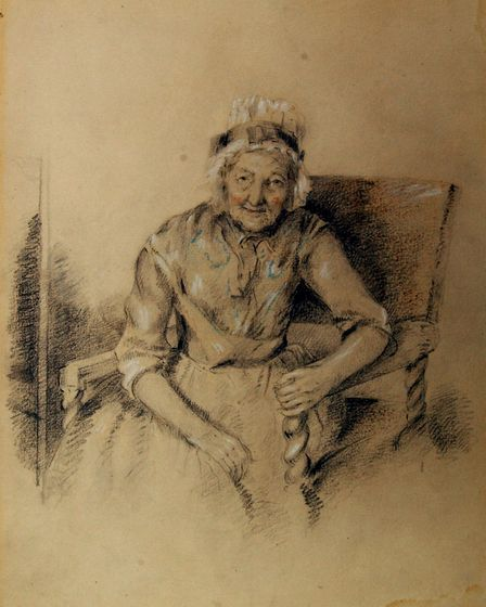 A sketch by Robert Mendham now at Eye town hall Picture: JAMES FLETCHER
