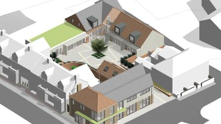 The initial plans for the Station Yard project generated a mixed reaction Picture: SOUTHWOLD TOWN CO